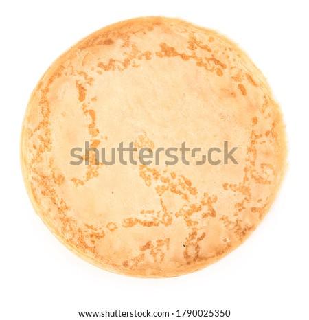 Tasty blini on white background Royalty-Free Stock Photo #1790025350