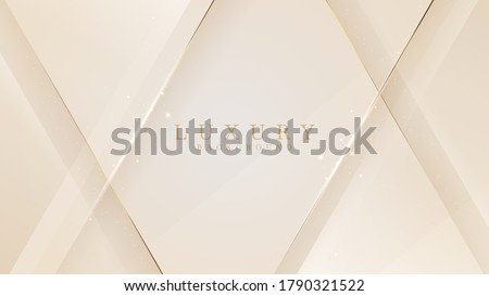 Luxury abstract background with golden lines sparkle geometric shapes. Illustration from vector about modern template design for a sweet and elegant feeling. Royalty-Free Stock Photo #1790321522