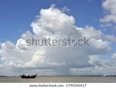 The fishing trawler anchored, Karnafuli River, Chittagong, bangladesh.