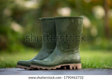 boots rain rubber garden footwear  Royalty-Free Stock Photo #1790462732