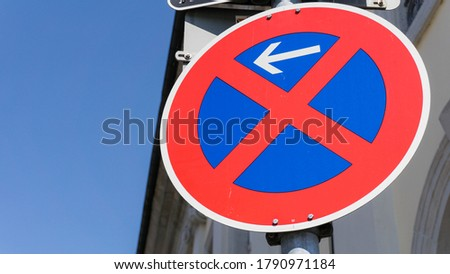 German road sign no stopping
