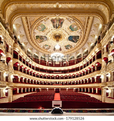 The Odessa National Academic Theater of Opera and Ballet in Ukraine. Central Golden Hall. 06 Jan 2014 #179128526