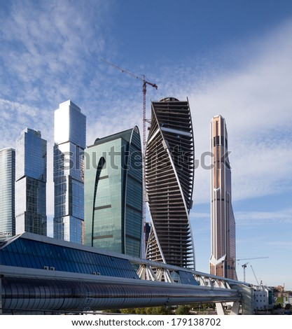 MOSCOW, RUSSIA- OCTOBER 06, 2013: Skyscrapers of the International Business Center (City), Moscow, Russia #179138702
