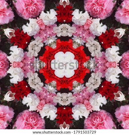 A floral type abstract decorative kaleidoscopic textile print and ceramic texture background image.design template .pillow cover print .wallpaper design.floor tile print. indian saree border print
