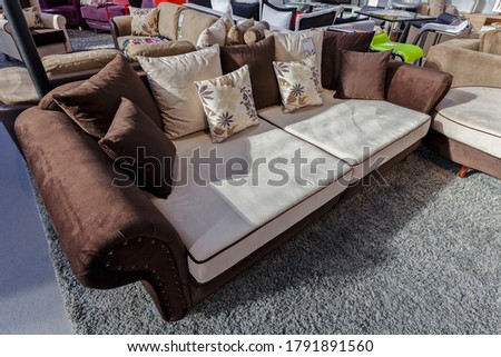 modern sofa for the living room, note shallow depth of field #1791891560