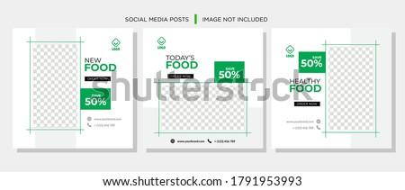Social Media Post for Food Promotion offer poster, Healthy Food Social Media Banner & Post. Food social media web banner design template, Food Social media, and web square banner design template. #1791953993