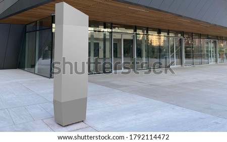 Picture of a blank information signboard can be used for way finding simulations or templates.