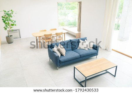 Modern empty interior high angle view. Royalty-Free Stock Photo #1792430533