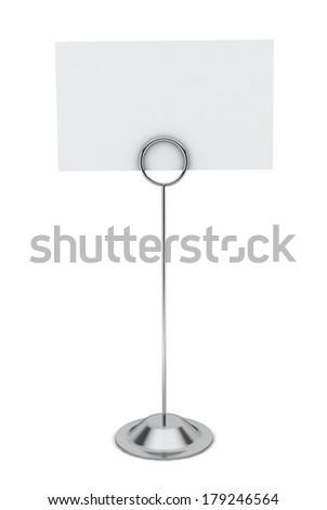 Card holder. 3d illustration on white background