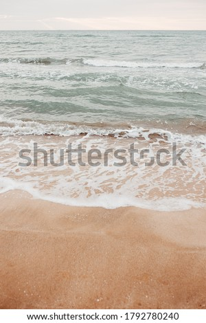 neutral sea ocean background with waves. Photos with a neutral color palette Royalty-Free Stock Photo #1792780240