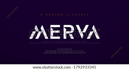 Abstract modern urban alphabet fonts. Typography sport, simple, technology, fashion, digital, future creative logo font. vector illustration #1792933345