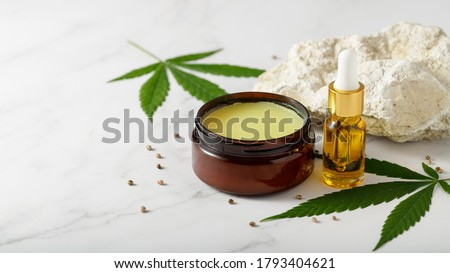 Hemp salve for joints and muscles and relaxing CBD serum oil as a complex in the treatment of the musculoskeletal system #1793404621