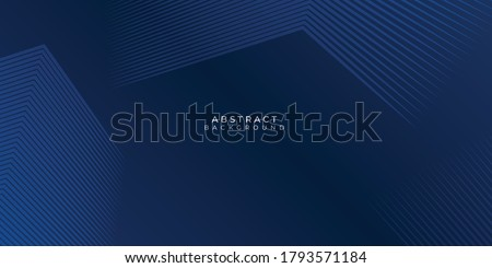 Dark blue background. Modern line stripes curve abstract presentation background. Luxury paper cut background. Abstract decoration, golden pattern, halftone gradients, 3d Vector illustration Royalty-Free Stock Photo #1793571184