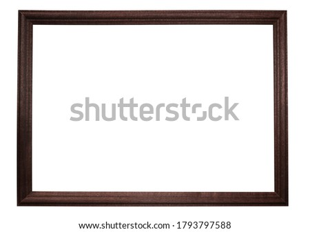 The coffee color of the horizontal figured frame for your text, pics, photos, images, text, isolated on white background