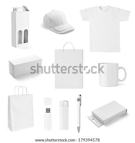 collection of  various white print templates on white background. each one is shot separately #179394578