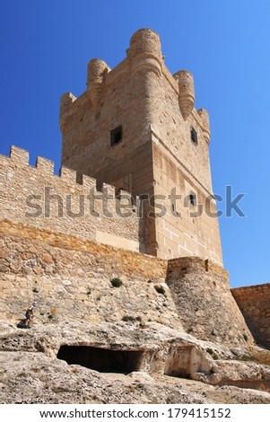 Villena Castle in Costa Blanca Alicante Spain. Villena is the part of Route of the Castles of Vinalopo #179415152