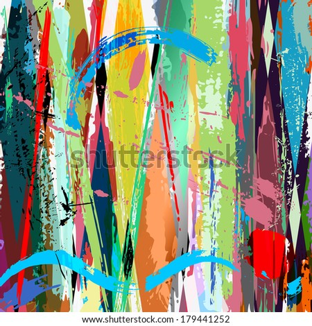 abstract background, with strokes, splashes and geometric lines #179441252