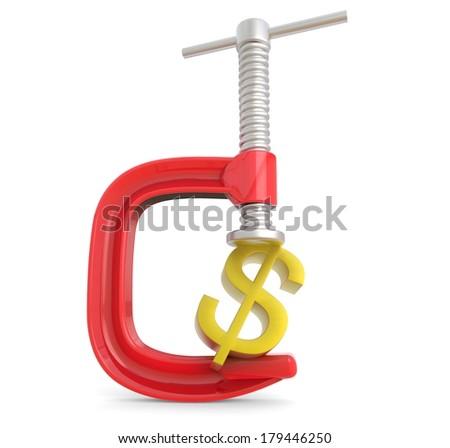 Clamp Dollar concept #179446250