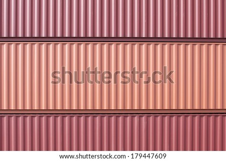 Stacked cargo containers in freight sea port terminal  #179447609