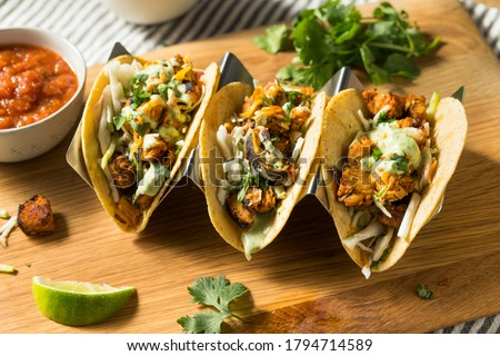Homemade Chicken Meixcan Street Tacos with Cheese and Crema