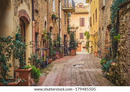 Old Town Pienza, Tuscany between Siena and Rome #179485505