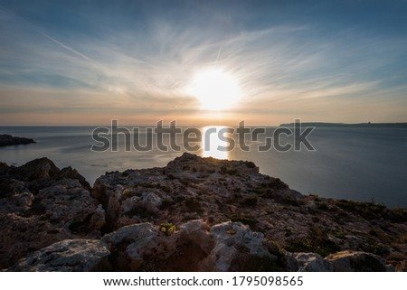 Sunset from Malta to Gozo