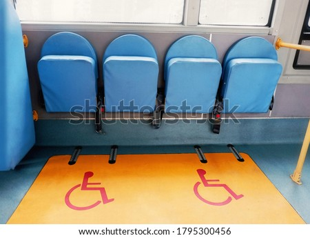 Seats on buses for the disabled #1795300456