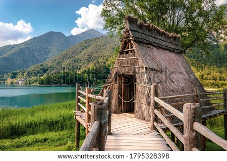 Prehistoric Pile Dwellings around the Alps (UNESCO World Heritage) Royalty-Free Stock Photo #1795328398