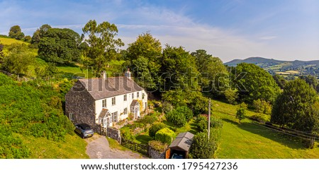 Cottage in Dartmoor National park, England, UK Royalty-Free Stock Photo #1795427236