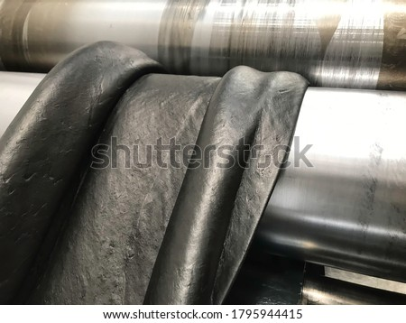 Rubber compound is prepaing in rubber factory, rubber mixing Royalty-Free Stock Photo #1795944415