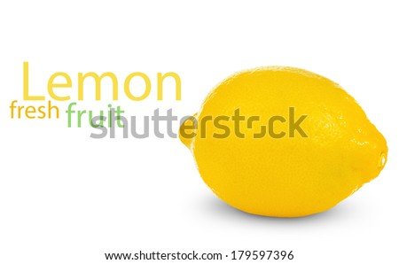 fresh lemon  isolated on white background #179597396