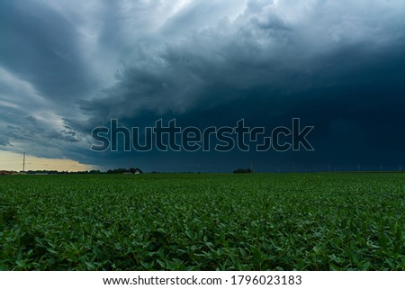 Incoming Derecho moments before it hits small town in the Midwest.  August 10th, 2020.  Peru, Illinois, USA Royalty-Free Stock Photo #1796023183