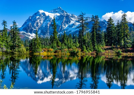 Mount Shuksan Picture Lake North Cascades