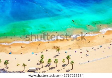 Landscape with Las teresitas beach, Tenerife, Canary Islands, Spain #1797213184