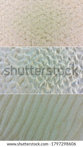 Set of textures of fine sea sand. Natural backgrounds