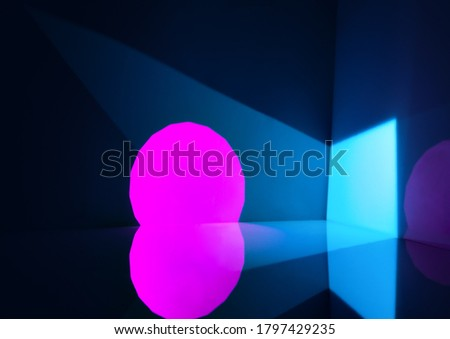 Abstract background with geometric shapes made of light #1797429235