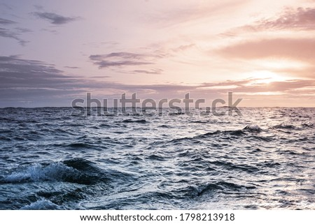A beautiful seascape at sunset Royalty-Free Stock Photo #1798213918