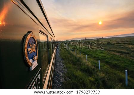 Local trans-siberian train from Mongolia to Ulan-Ude, The Republic of Buryatia Royalty-Free Stock Photo #1798279759