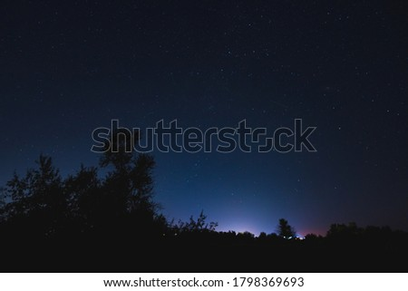 Bright starry sky on a moonless night