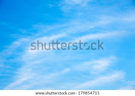 Beautiful, fluffy, white clouds and blue sky #179854715