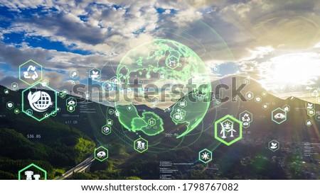 Environmental technology concept. Sustainable development goals. SDGs. Royalty-Free Stock Photo #1798767082