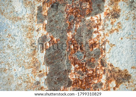 Rusty iron plate background surface