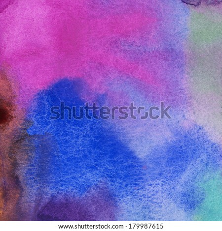 Abstract watercolor painting scanned in high resolution. Design element. #179987615