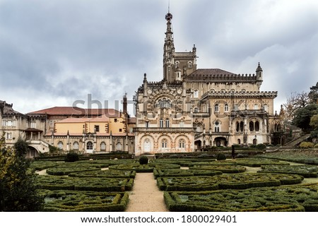 Luxury palace hotel surrounded by beautiful garden, Mealhada, Serra do Bussaco, Portugal #1800029401