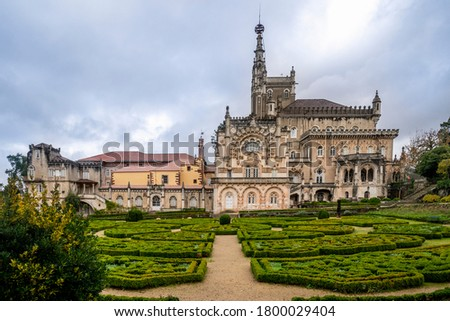 Luxury palace hotel surrounded by beautiful garden, Mealhada, Serra do Bussaco, Portugal #1800029404