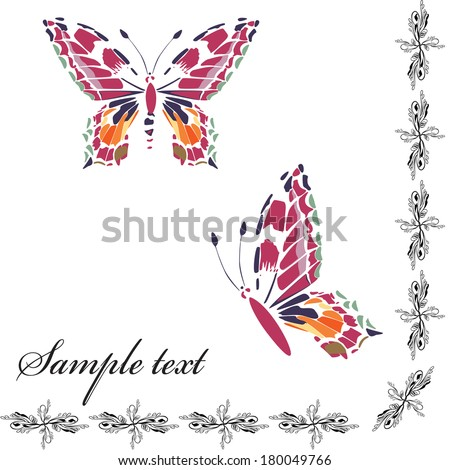 Background with butterflies #180049766