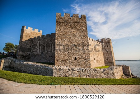 Cultural Heritage, Medieval Ram Fortress, old Ottoman fortress,  border fortification situated on the banks of Danube river, eastern Serbia, Europe Royalty-Free Stock Photo #1800529120