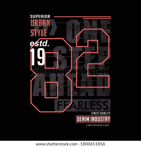 urban denim vintage vector typography t shirt, illustration street style design   Royalty-Free Stock Photo #1800651856
