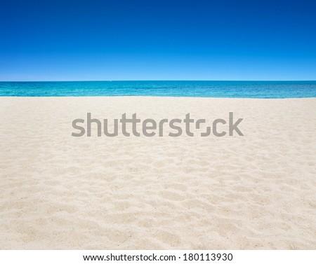 beautiful beach and tropical sea #180113930