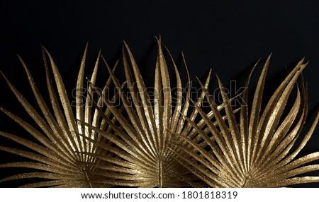 Golden leaves. Helostoma temmicki leaf.  Royalty-Free Stock Photo #1801818319